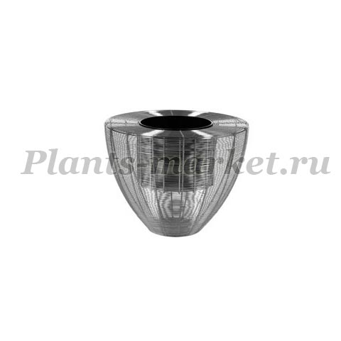Кашпо Plants first choice Wire planter weaving chrome