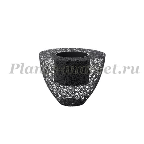 Кашпо Plants first choice Wire planter round grey